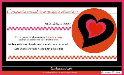 Certificado Cibermatrimonio ElMundo.es