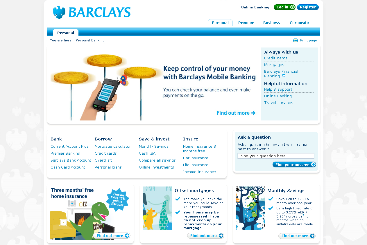 Captura de la Home del Barclays