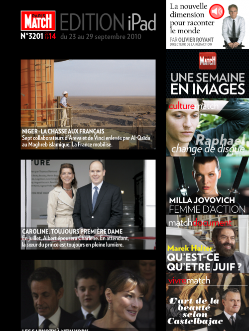 Paris Match Ipad App