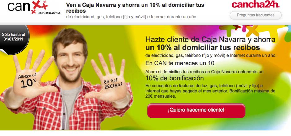 Campaña de hazte cliente de Caja Navarra