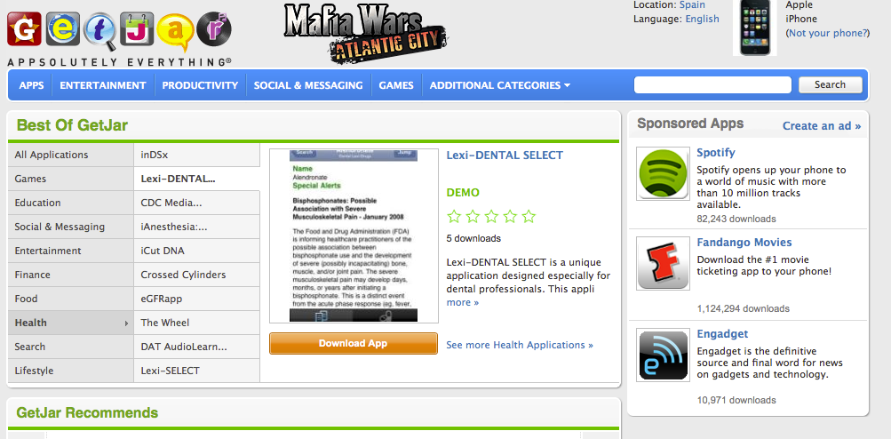 Getjar, marketplace de apps