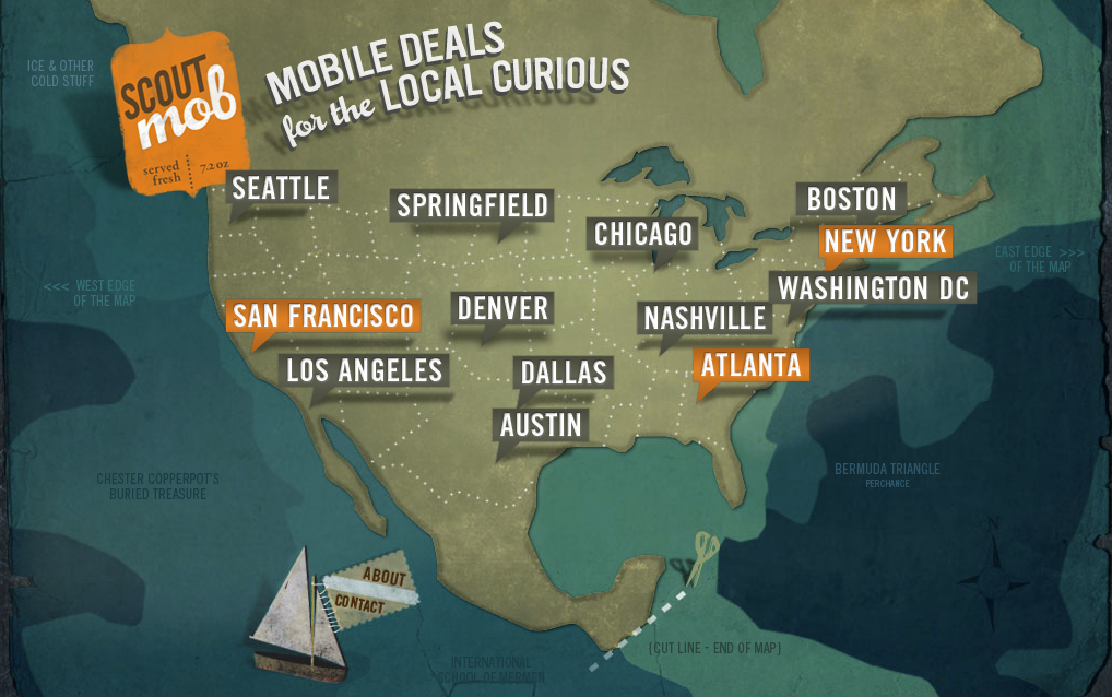 Scoutmob, ofertas para clientes móviles en función de su ubicación geográfica