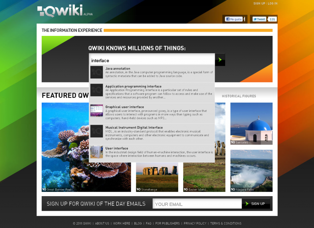 qwiki screencapture