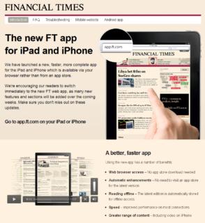 Finantial Times web app