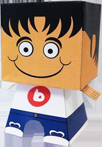 Paper toy de un consultor de biko