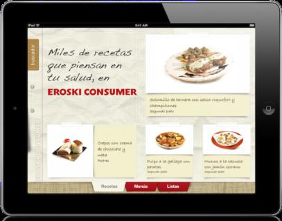 App Recetas Eroski Consumer para iPad