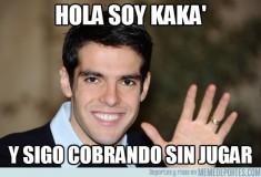 Hola soy Kaká y sigo cobrando sin jugar, imagen de memedeportes.com