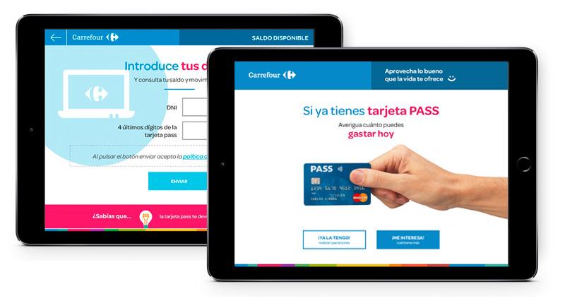 Aplicación web de Biko-Salesland para el kiosco digital de Carrefour